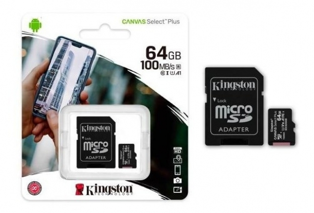 MICRO SD + ADAP  KINGSTON CANVAS PLUS 2 DE 64GB (6060)