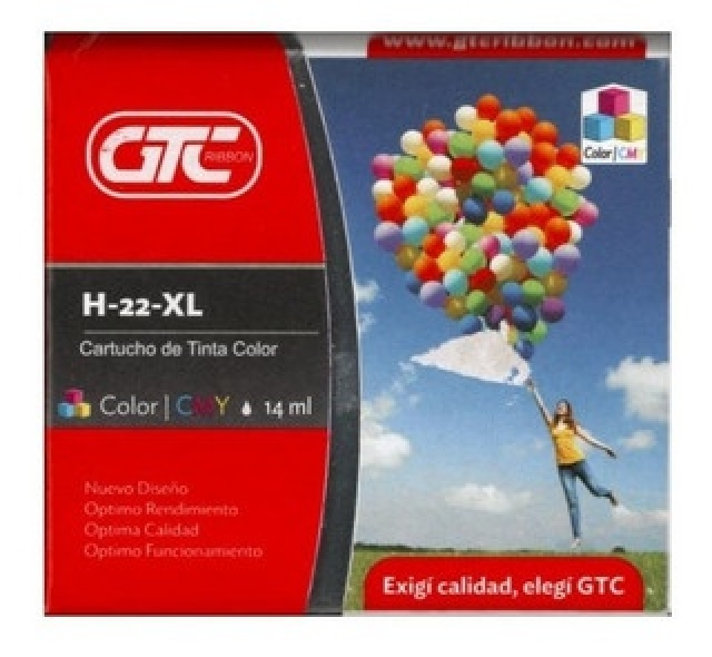 CARTUCHO  H-22 ALT. JET/GTC HP 22// COLOR XL GTC  (6114)