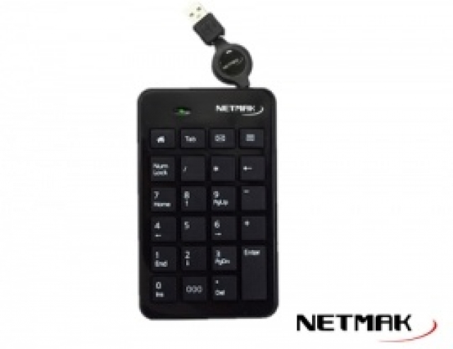 Teclado Numerico Multimedia USB NM-KB250 ( 6401)