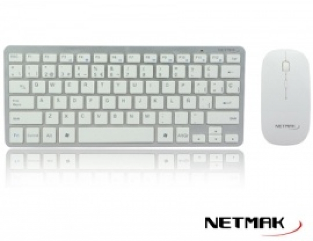 Combo Inalámbrico Ultra Slim Teclado y Mouse 1600 DPI NM-KB570W (3648)