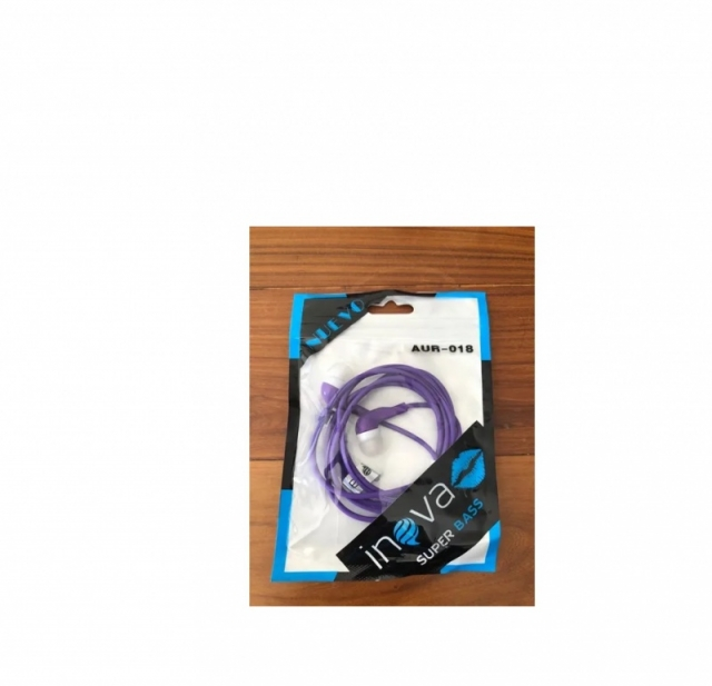 AURICULARES INOVA SUPER BASS AUR-018 PURPURA 3.5MM (6022)