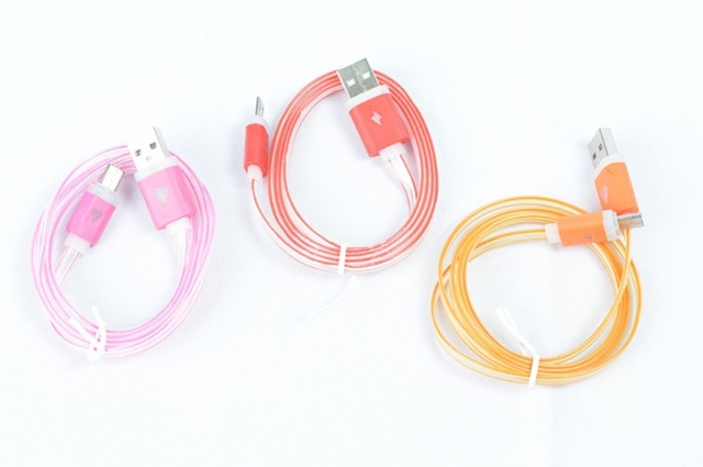 CABLE USB V8,1MT, LUMINOSO (2176)