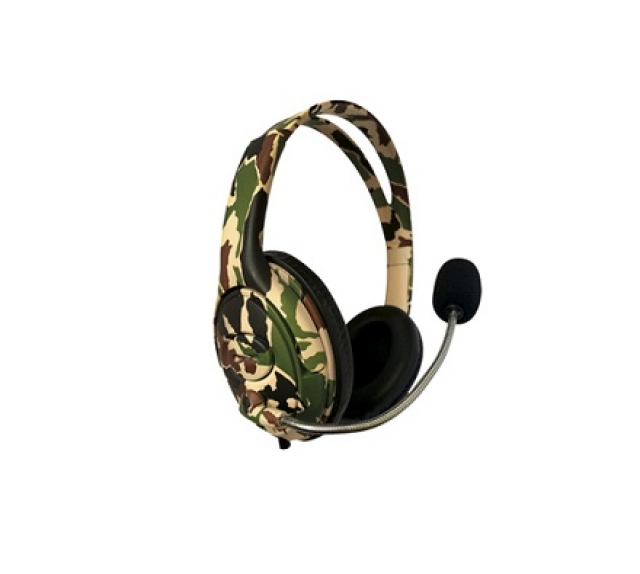 BATTLE Auricular PS4 Gamer Camuflado - 1 Plug 3,5mm (5474)