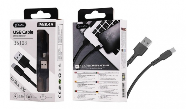 Cable MicroUSB OnePlus B6108 ( 6167)