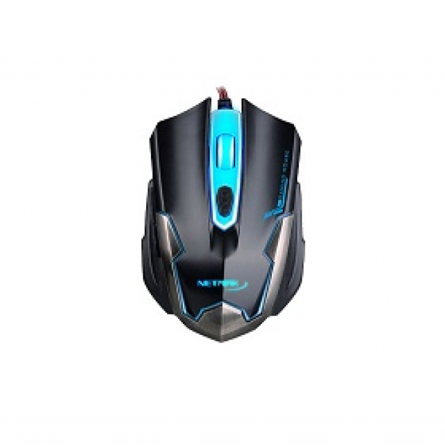 Mouse  gamer retroilum Modelo NM-ARMOR negro (2960)