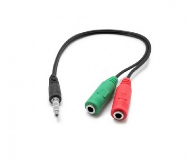 Adaptador Audio Auri (h) + Mic (h) a 3.5mm (m) NM-C92